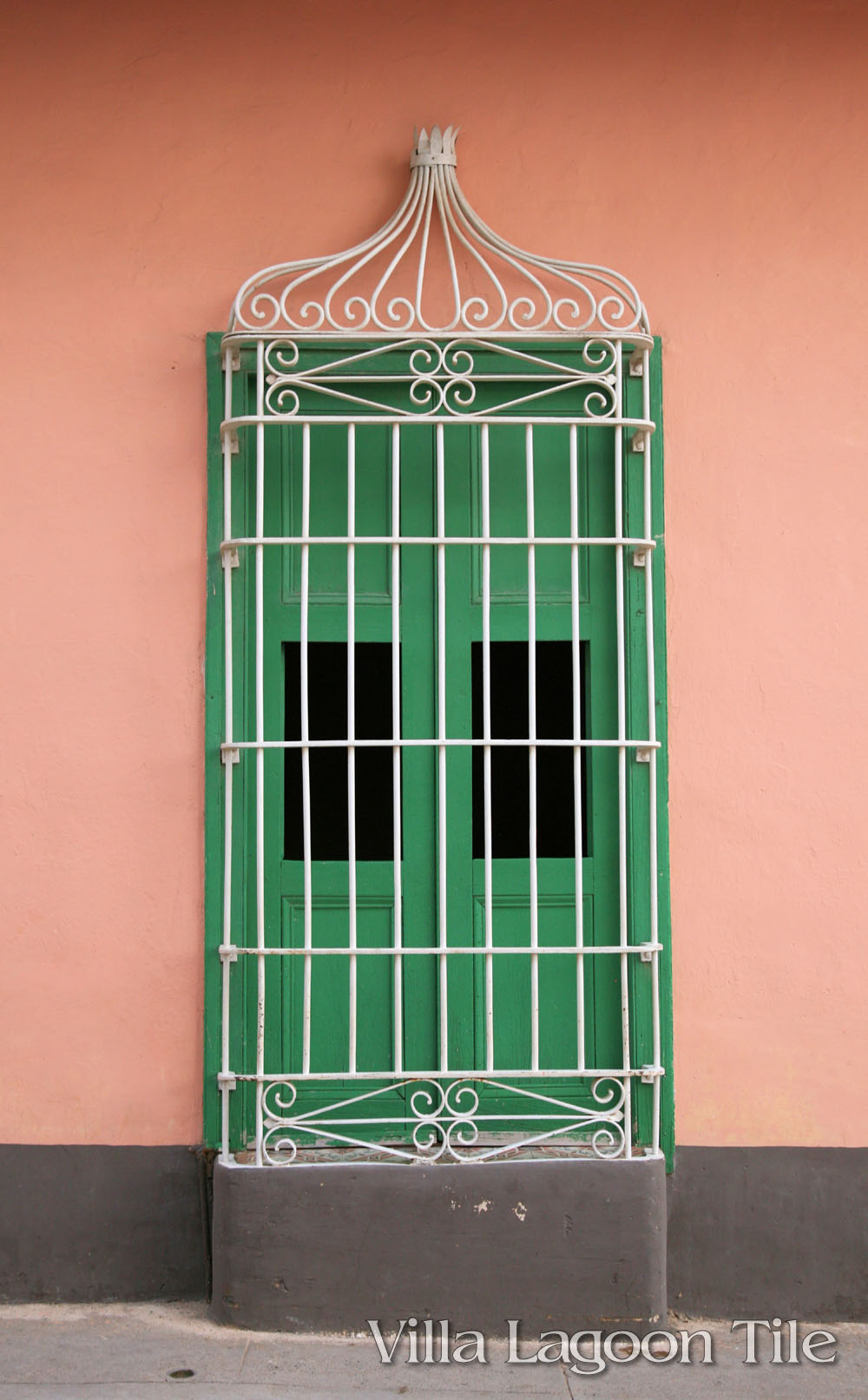 Pink is a popular color in Cuba, both in their tile and their exterior colors.