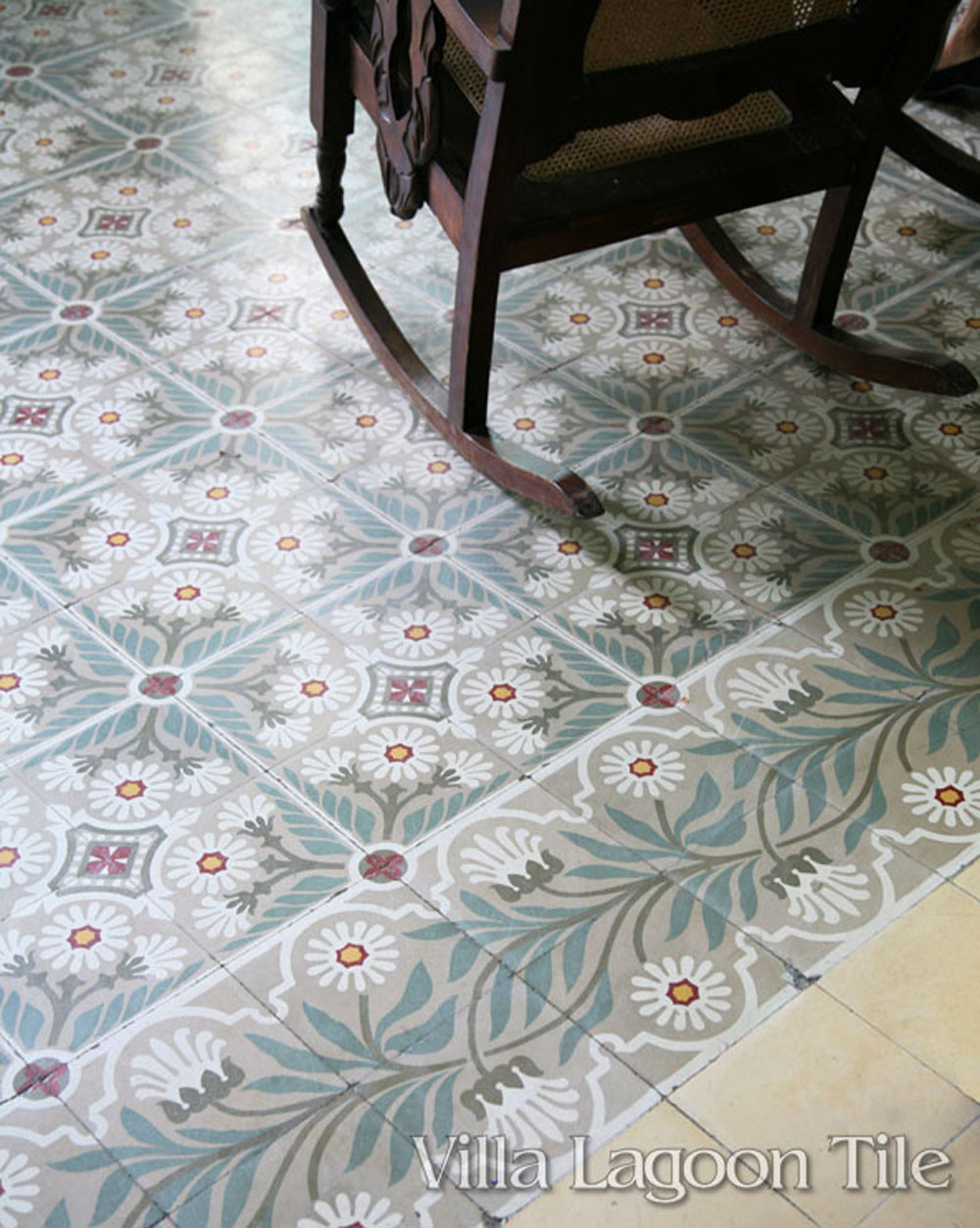 Our MAMBO pattern tile in Havana, Cuba...the same design as in the Palace Palacio Ferrer in Cienfuegos, Cuba.