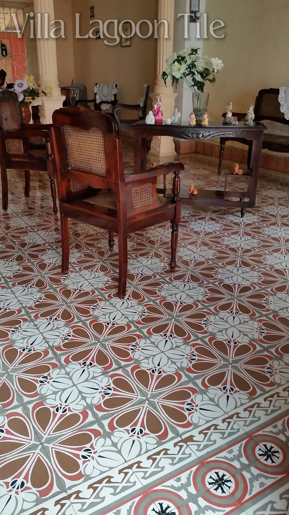 A lovely old Cuban home with intact cement tile floors.